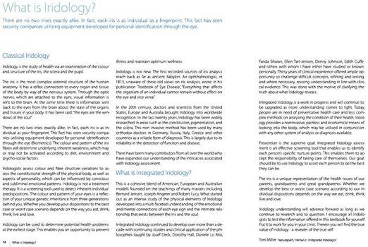 What is Iridology? (The Integrated Iridology Textbook)