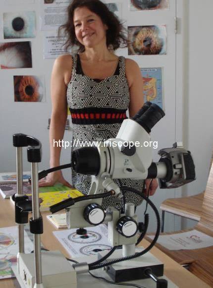 an EyePix10 Pro Digital Iriscope ~ camera and microscope attached