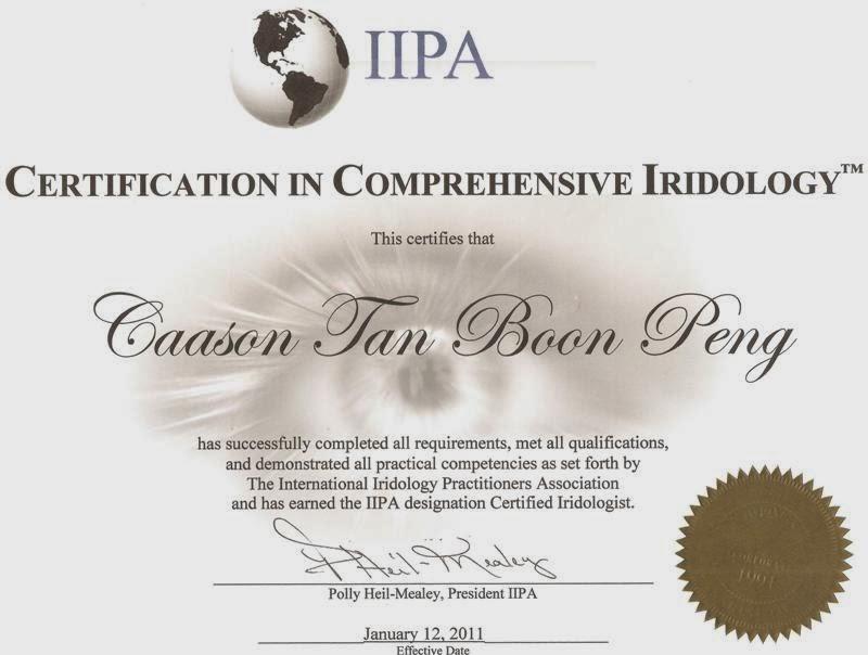 IRIDOLOGY IIPA-CCI Certification-1